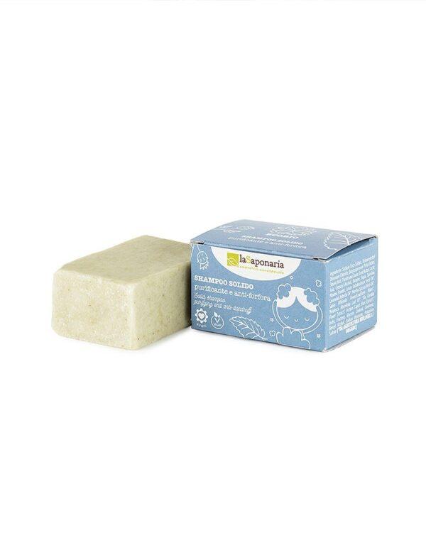 Shampoo solido purificante e antiforfora
